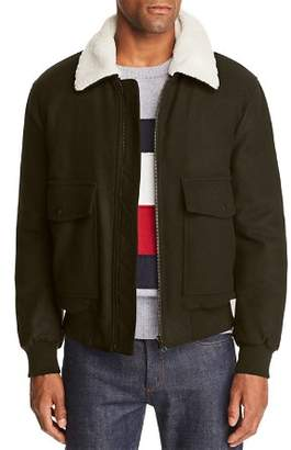 Tommy Hilfiger Faux-Shearling-Collar Bomber Jacket