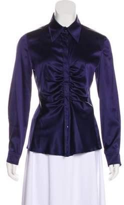 Armani Collezioni Silk Button-Up Top