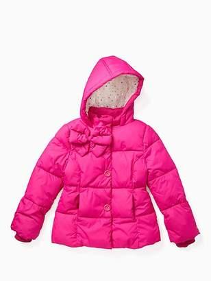 Kate Spade Girls bow puffer coat
