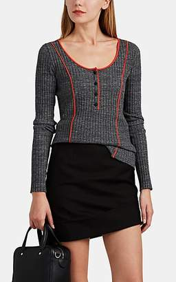 Rag & Bone Women's Pak Rib-Knit Cotton Sweater - Gray