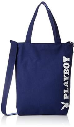Playboy (プレイボーイ) - [プレイボーイ] トートバッグ バイカラー ロゴ ショルダー付 A4対応 PBMB-1561 NV ネイビー