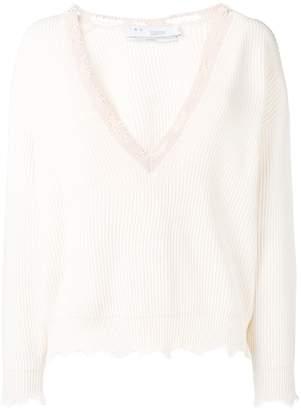 IRO oversized frayed knitted jumper
