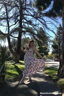 Forever 21 Plus Size Cross-Back Floral Print Maxi Dress