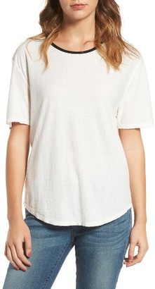 Women's James Perse Relaxed Ringer Tee $105 thestylecure.com
