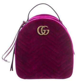 Gucci 2018 Velvet GG Marmont 2.0 Backpack w/ Tags