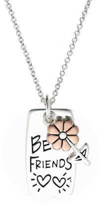 Footnotes Womens Sterling Silver Flower Pendant Necklace