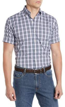 Peter Millar Men's Crown Comfort Moritz Check Short-Sleeve Sport Shirt