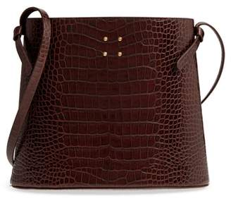 TRADEMARK Sybil Croc Embossed Leather Tote