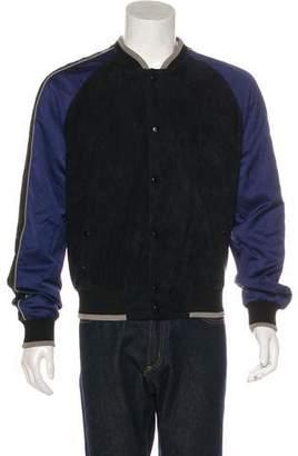 Lanvin Suede Bomber Jacket