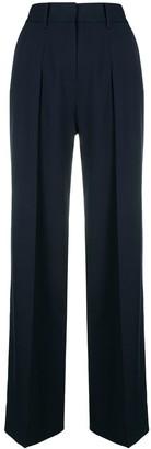 Victoria Victoria Beckham side stripe wide leg trousers