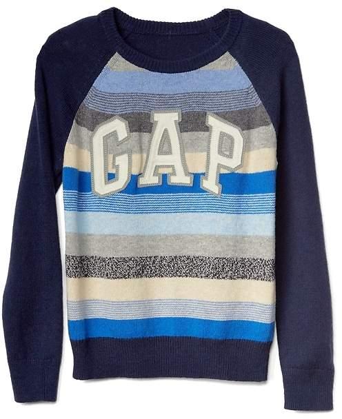Crazy stripe logo raglan sweater