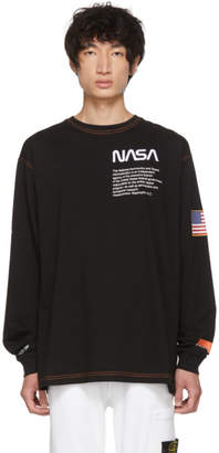 Heron Preston SSENSE Exclusive Black Long Sleeve T-Shirt