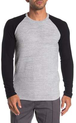 Velvet by Graham & Spencer Colorblock Raglan Sleeve Brushed Knit T-Shirt