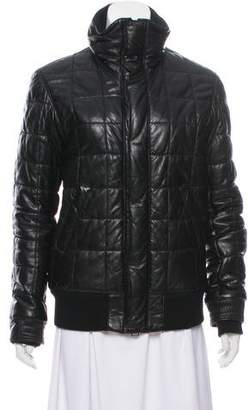 Balmain Quilted Leather Jacket