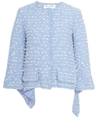 Oscar de la Renta 3/4 Length Sleeve Jacket