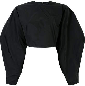 wide sleeve cropped top
