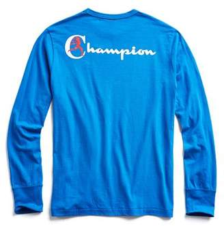 Todd Snyder + Champion Champion Long Sleeve Back Graphic in Blue