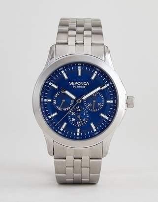 Sekonda Chronograph Bracelet Watch In Silver Exclusive To ASOS