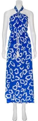 Diane von Furstenberg Silk Sleeveless Printed Maxi Dress