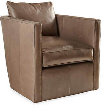 Robin Bruce Rothko Swivel Chair - Taupe Leather