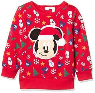 Disney (ディズニー) - [ディズニー] ミッキークリスマストレーナー 332109047 ボーイズ アカ 日本 95 (日本サイズ95 相当)