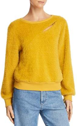 J.o.a. Cutout Textured Sweater