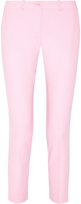 Michael Kors Collection - Samantha Wool-serge Slim-leg Pants - Pastel pink $695 thestylecure.com