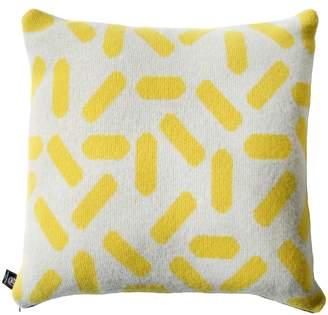 TiCTAC Giannina Capitani - Tic-Tac Cushion Large - Grey & Yellow/Black Zip