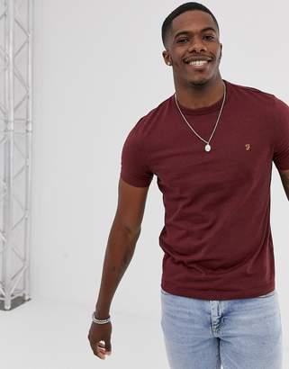 Farah Dennis slim fit logo t-shirt in red