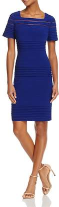Adrianna Papell Mesh-Inset Banded Dress $160 thestylecure.com