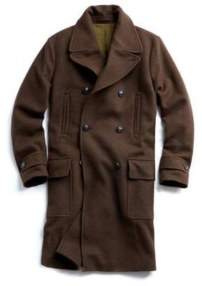 Todd Snyder Italian Yak Hair Officer Coat in Brown