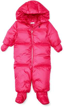 Ralph Lauren Girls Hooded Down Snowsuit