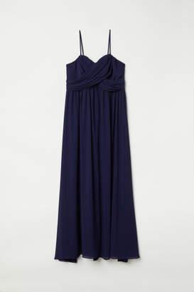 H&M H&M+ Draped Bandeau Dress - Blue