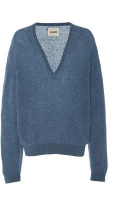 SAM. Khaite Deep V-Neck Cashmere Sweater