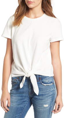 cfb5f4c9ef277b Tie Front T-shirt - ShopStyle