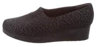 Robert Clergerie Leopard Patterned Slip-On Sneakers