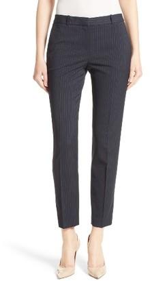 Women's Boss Tiluna Pinstripe Slim Ankle Pants $325 thestylecure.com