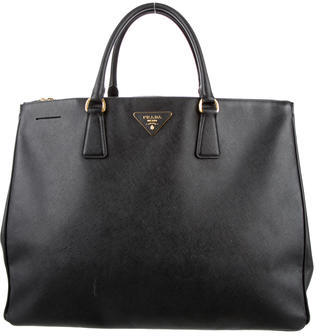 Prada Saffiano Lux Large Double Zip Tote $1,395 thestylecure.com
