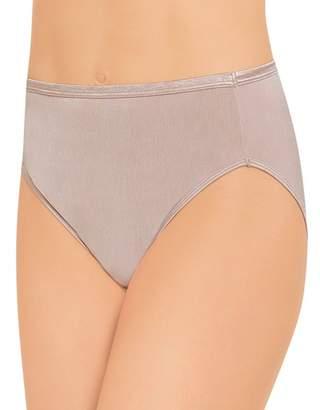 Vanity Fair Women's Body Shine Illumination Hi-Cut Brief Panty 13108, Rose Beige, 6