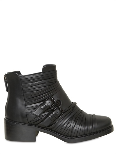 Givenchy 50mm Calfskin Bondage Low Boots