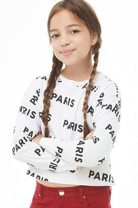 Forever 21 Girls Paris Graphic Top (Kids)