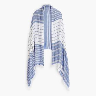 J.Crew Summerweight cape-scarf in blue