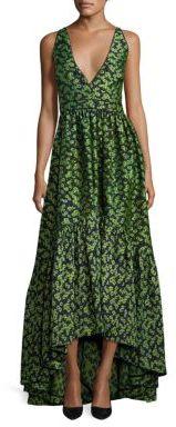 ZAC Zac Posen Melissa Floral Jacquard Gown $890 thestylecure.com