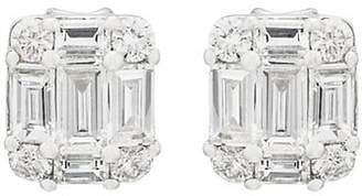 Sara Weinstock Women's Illusion White Diamond Studs - White