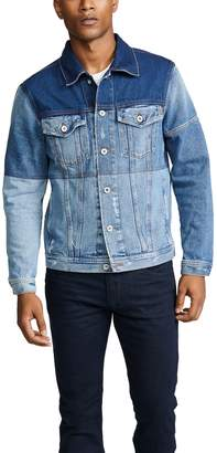 Diesel Denim Trucker Jacket with Color Block
