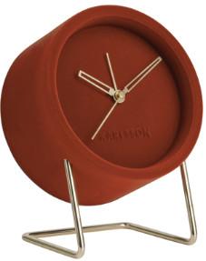Karlsson Lush Velvet Alarm Clock (6 colours) - clay brown - Caramel/Dark grey/Clay brown