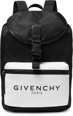 Givenchy Glow-in-the-Dark Logo-Print Canvas and Shell Backpack - Men - Black