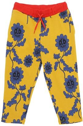 Mini Rodini Flower Print Organic Cotton Sweatpants