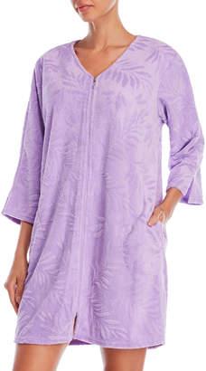 Miss Elaine Micro Terrycloth Zip-Up Robe