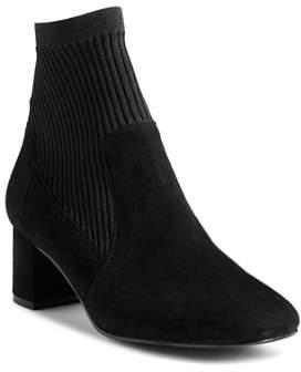 Karen Millen Women's Knitted Block Heel Booties